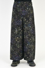 2021 S/S LAD MUSICIAN SMALL FLOWER 2TUCK CROPPED WIDE SLACKS