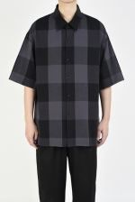2020 S/S LAD MUSICIAN R/C BLOCK CHECK SHORT SLEEVE BIG SHIRT