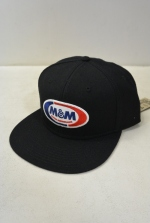 2018 A/W M&M SNAPBACK BB CAP BLACK