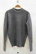2016 A/W TMT SHETLAND WOOL CREW NECK PULLOVER GRAY